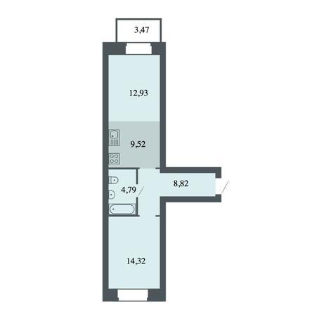 Вариант №4478, 2-комнатная квартира в жилом комплексе Спектр