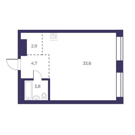 Вариант №5297, 2-комнатная квартира в жилом комплексе
