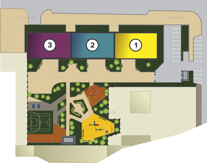Общий план секций