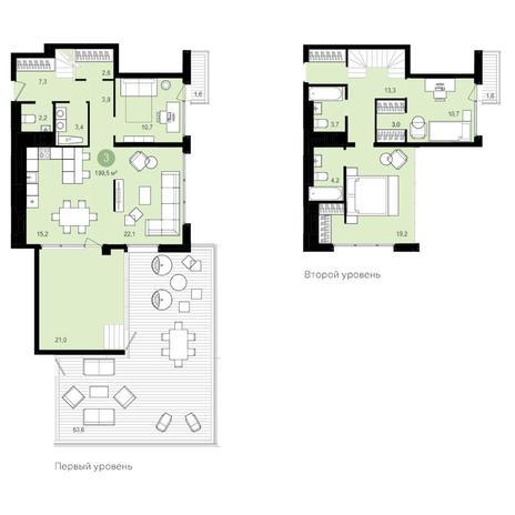 Вариант №4183, 4-комнатная квартира в жилом комплексе Жуковка