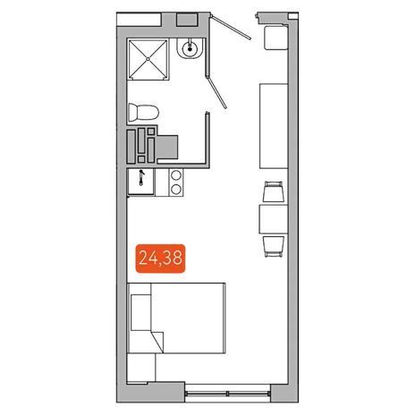 Вариант №5348, 1-комнатная квартира в жилом комплексе Одесса