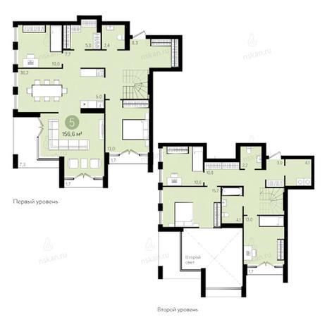 Вариант №2799, 4-комнатная квартира в жилом комплексе Европейский Берег