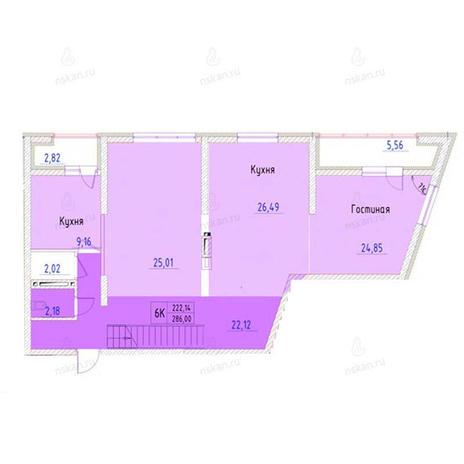 Вариант №952, 4-комнатная квартира в жилом комплексе Беркут хаус