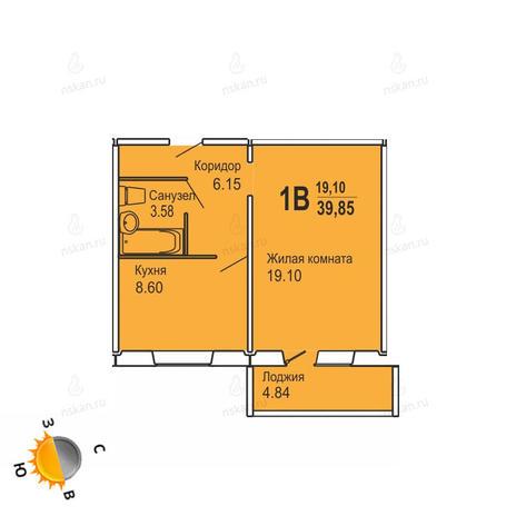 Вариант №724, 1-комнатная квартира в жилом комплексе Софийский квартал
