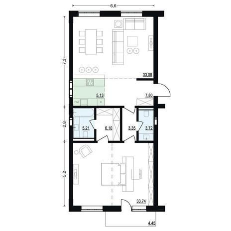 Вариант №2707, 2-комнатная квартира в жилом комплексе Montblanc
