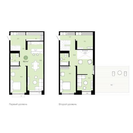 Вариант №6278, 4-комнатная квартира в жилом комплексе