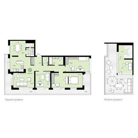 Вариант №5534, 6-комнатная квартира в жилом комплексе