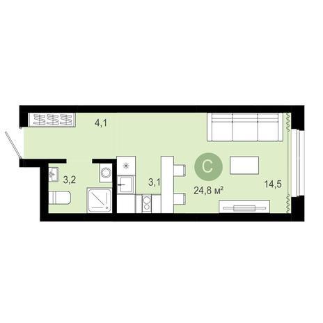 Вариант №4062, 1-комнатная квартира в жилом комплексе Европейский Берег