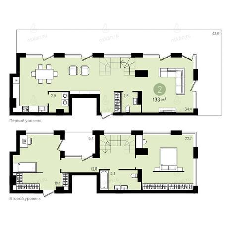 Вариант №2594, 4-комнатная квартира в жилом комплексе