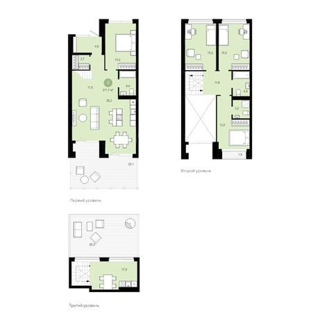 Вариант №4596, 5-комнатная квартира в жилом комплексе Европейский Берег