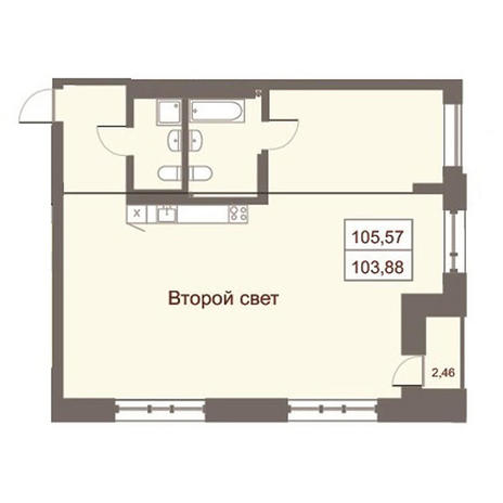Вариант №2871, 4-комнатная квартира в жилом комплексе Дом на Чаплыгина