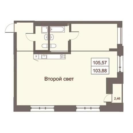 Вариант №2871, 4-комнатная квартира в жилом комплексе