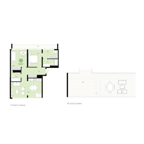 Вариант №6026, 3-комнатная квартира в жилом комплексе