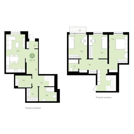 Вариант №4621, 4-комнатная квартира в жилом комплексе Жуковка