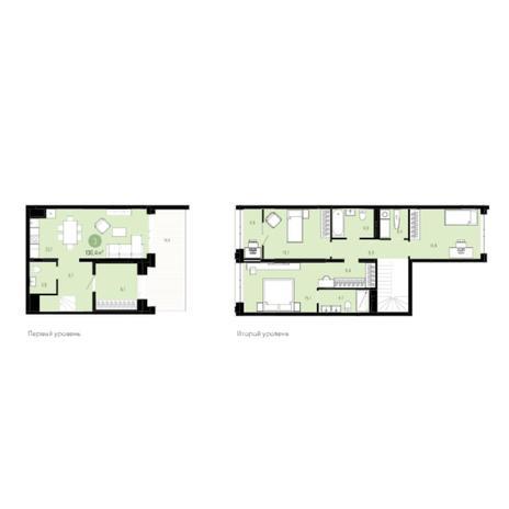 Вариант №6029, 4-комнатная квартира в жилом комплексе