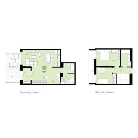 Вариант №6280, 3-комнатная квартира в жилом комплексе